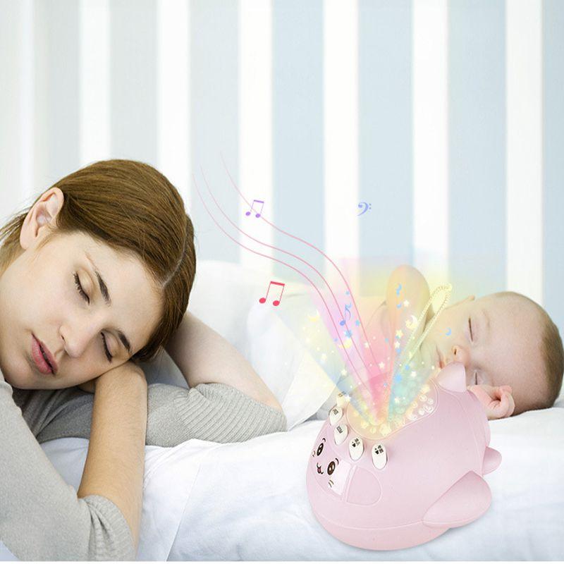 宝宝安抚玩具星空投影早教机儿童益智小飞机