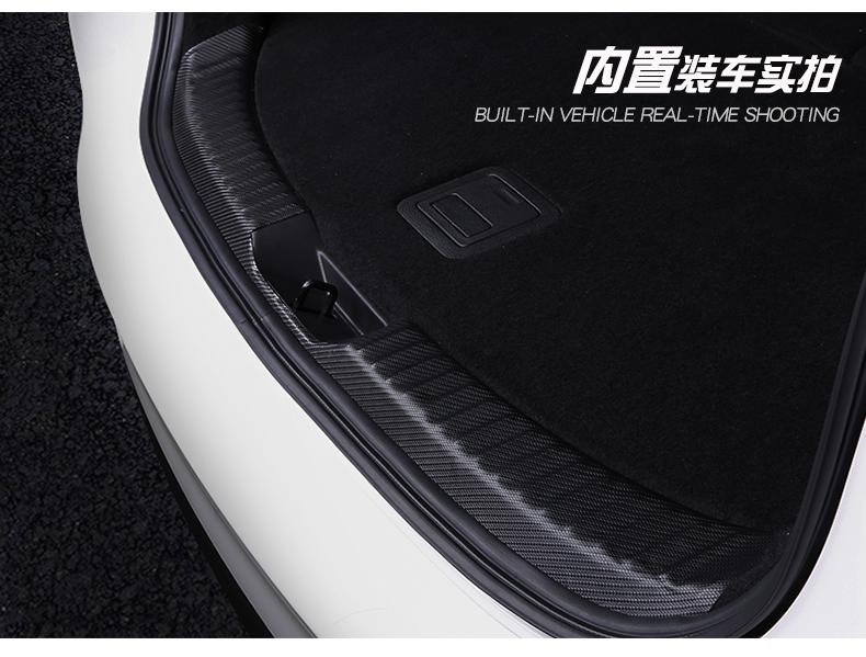 Miếng dán chống trầy  xước cốp  sợi cacbon Mazda CX-8 2019 - ảnh 19