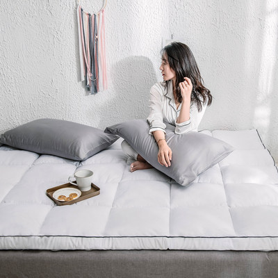 Thicken high-echocardikitami mattress super soft student dormfore mattress feather velvet bed double foldable mattress