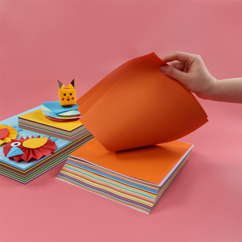 硬卡纸a4纸彩色卡纸手工纸厚硬学生儿童幼儿园大张8开绘画加厚画画a3彩纸4k色卡8k大号制作材料剪纸diy超大号