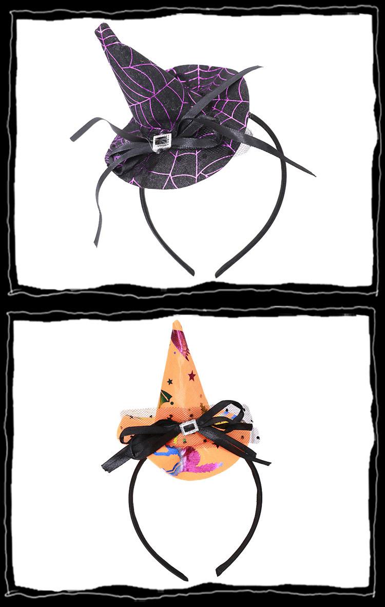 万圣节头箍发卡巫婆帽子黑尖帽子万圣节装饰品聚会演出派对发夹帽图片
