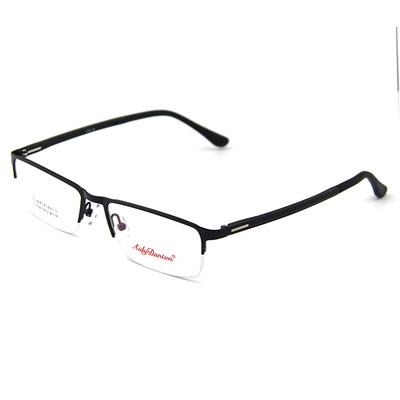 光学眼镜近视眼镜框男配近视镜金属半框架商务黑框眼睛框镜架男