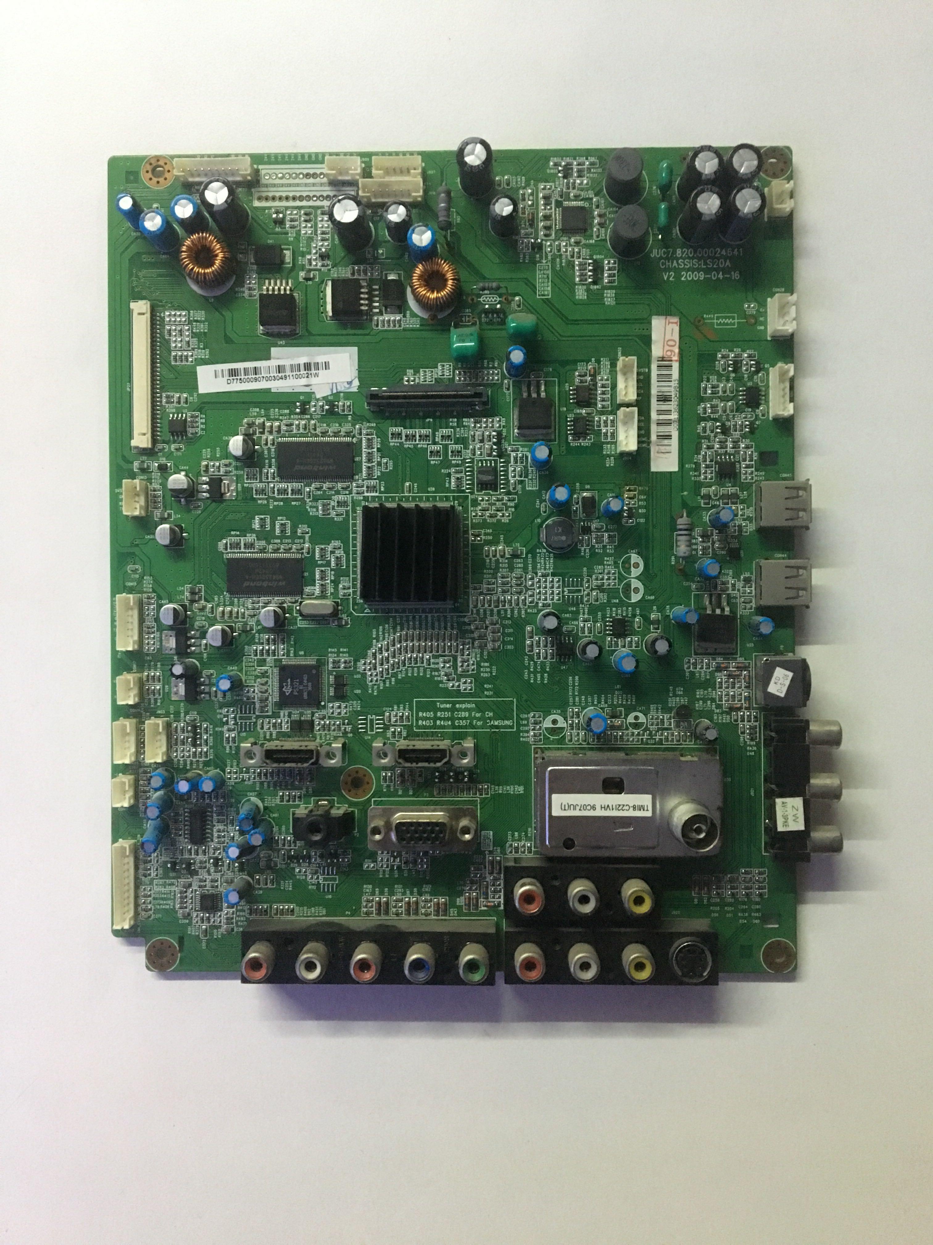 主板长虹LT55810DU现货JUC7.820.00024641配屏LTA550HF02测好原装