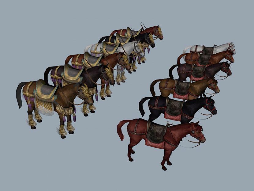 12匹战马3D模型 The horse C4D FBX MAX MX954