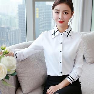 2019春装新款韩版衬衫女长袖上衣