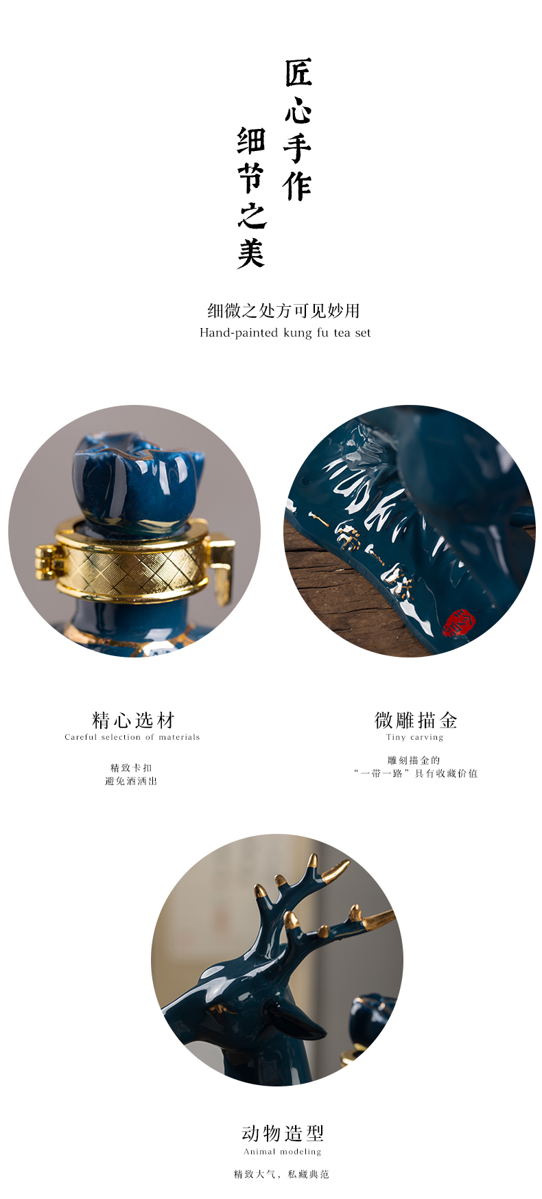 Jingdezhen ceramic bottle 2 jins jars household adornment ark, furnishing articles sealed storage wine empty wine bottle of wine