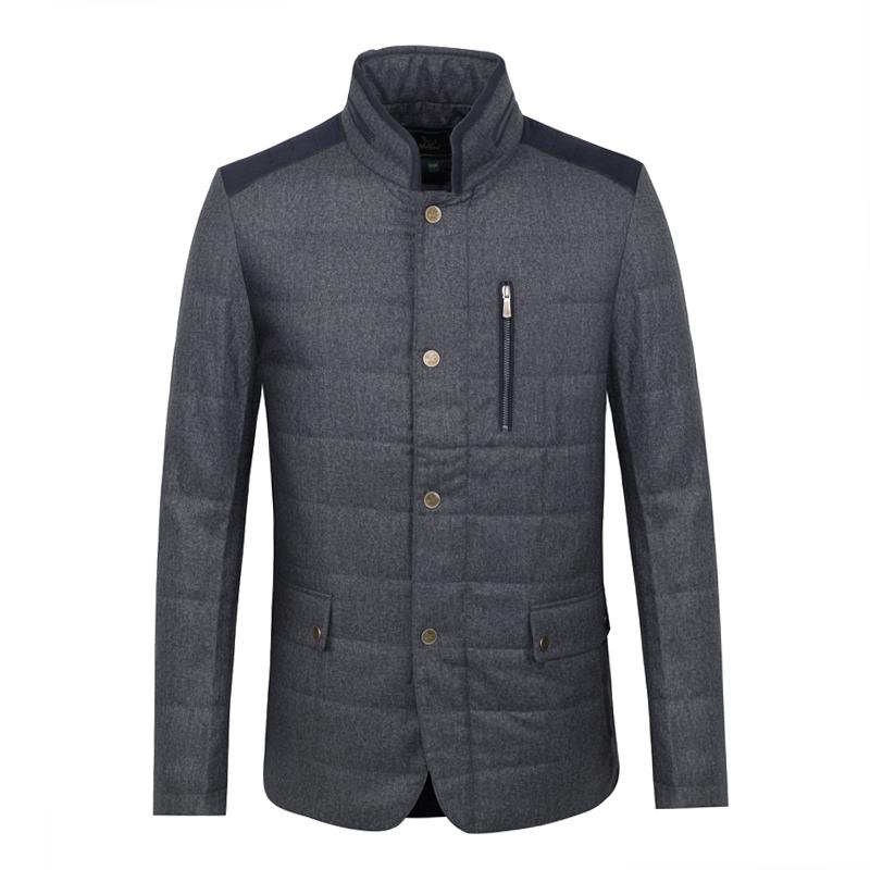 W1282. Fox thương hiệu mùa thu và mùa đông nam áo khoác cotton kinh doanh thời trang giản dị áo khoác lụa gió áo khoác cotton - Bông