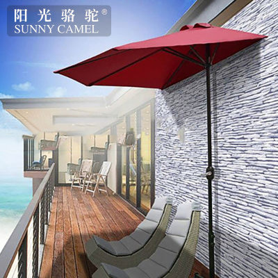 European 3-meter half-side umbrella semi-circular outdoor sun sunshade wall wall umbrella garden balcony side umbrella garden big umbrella