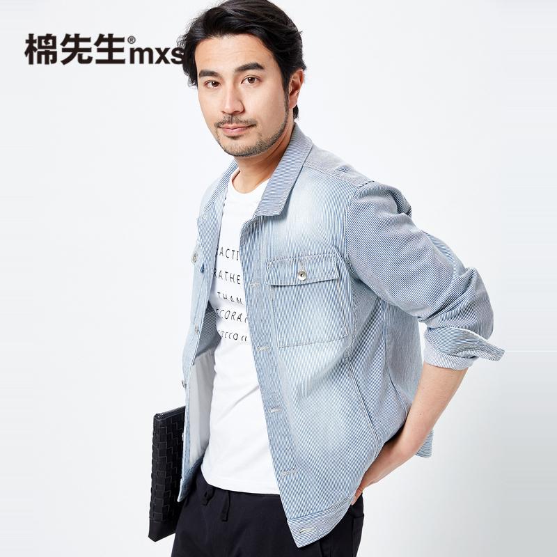 棉先生2018春季新款男士双层立领夹克衫 青年休闲外套男长袖上衣