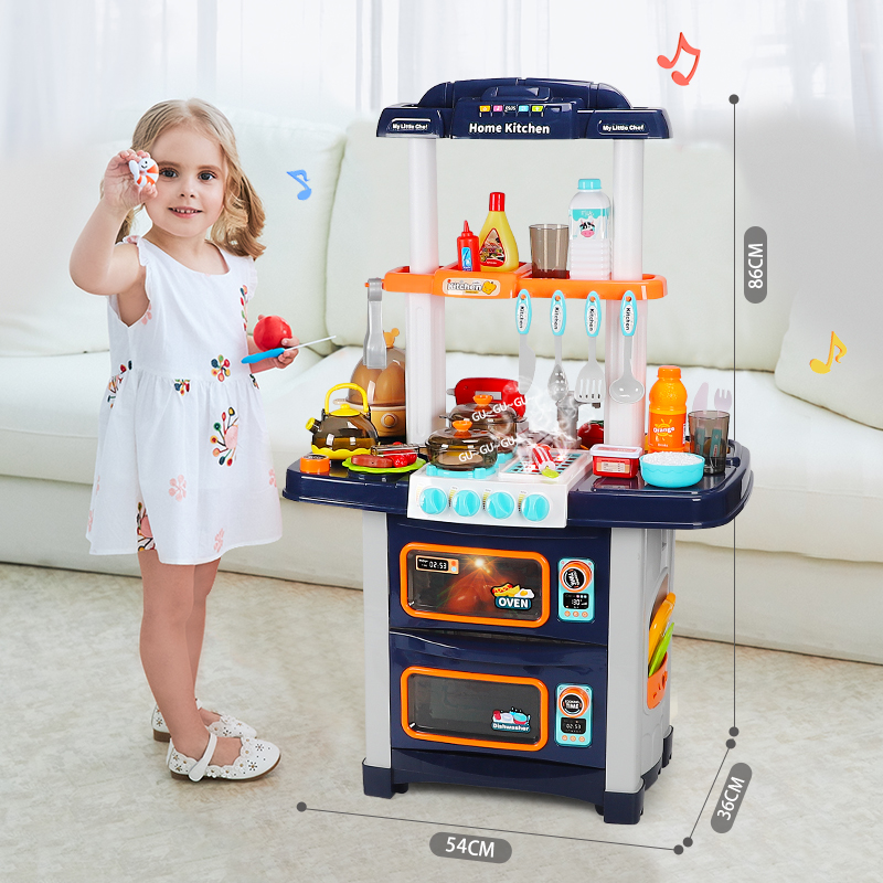 XiaoWei children over the family kitchen toy baby cooking cooking simulation set girl birthday gift 3-6 years old 7
