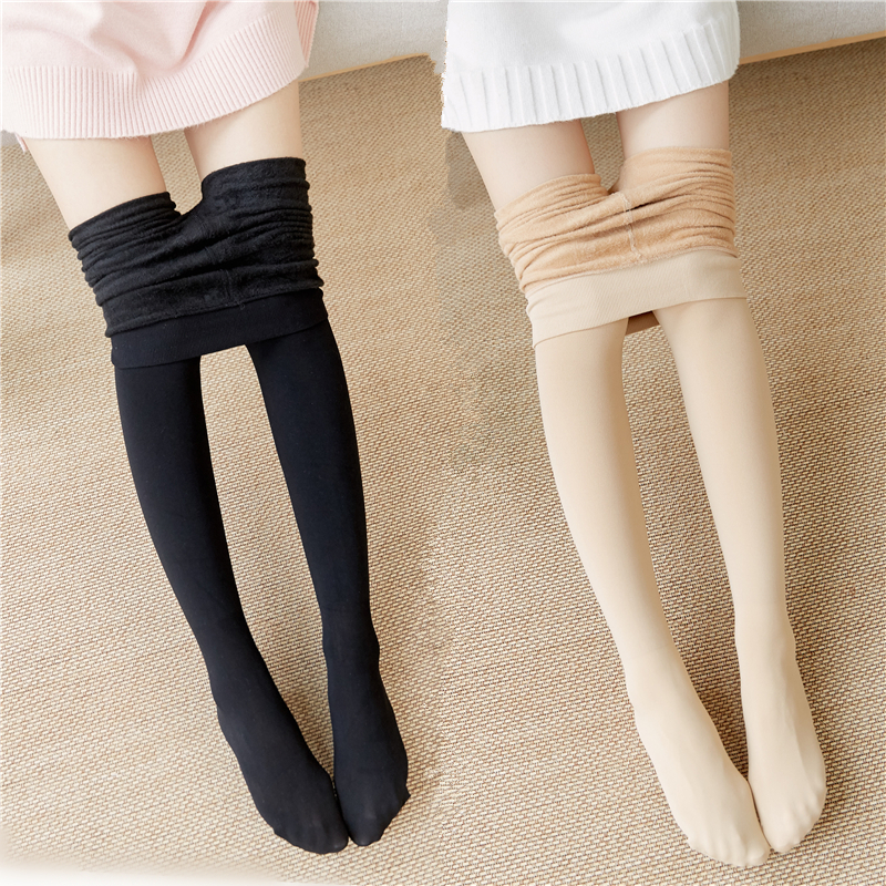 525b05bda Spring and autumn in the thick bottom socks thin cashmere thickened skin  color stockings light legs pantyhose artifact outside the legs