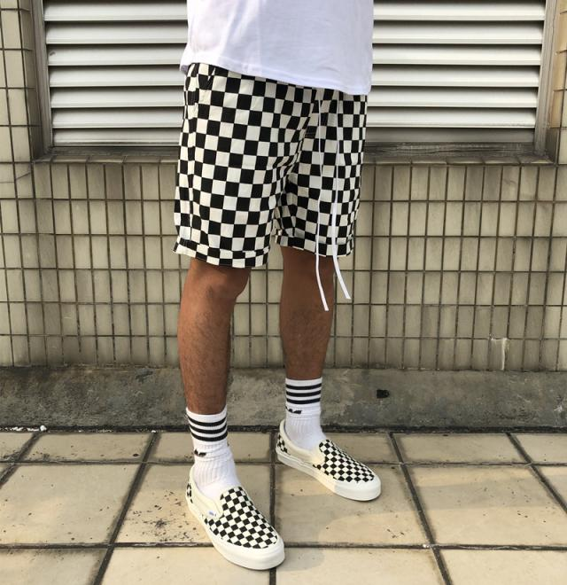 01d44477ac7 Brand Summer Fashion Casual Checkerboard Plaid Shorts Street Hip Hop Men  Women Justin Bieber Sweatpants Joggers-in Casual Shorts from Men s Clothing  on ...