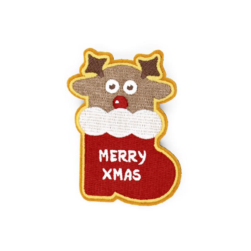 圣诞系列刺绣胸针-麋鹿