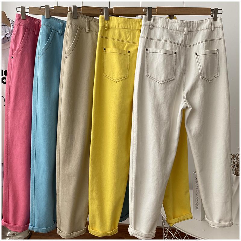 【恩爱服饰】显高的森女牛仔裤萝卜直筒修饰腿型夏天小脚裤111798