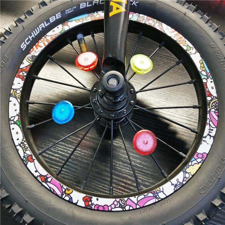 轮胎平衡车奶牛星空贴纸自行车军蓝迷彩贴纸轮圈贴儿童贴轮组贴纸