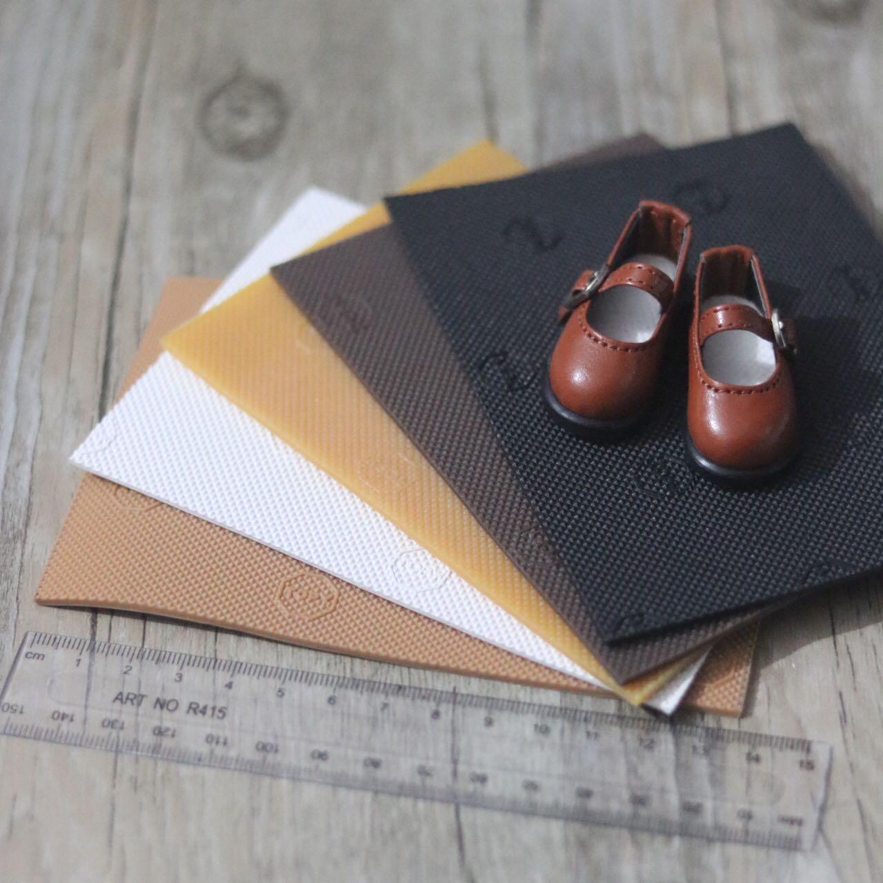 Bjd Blythe салон английский линии сухожилие ребенок использование подошва ручной работы DIY ручной работы ребенок обувной черный и коричневый белый