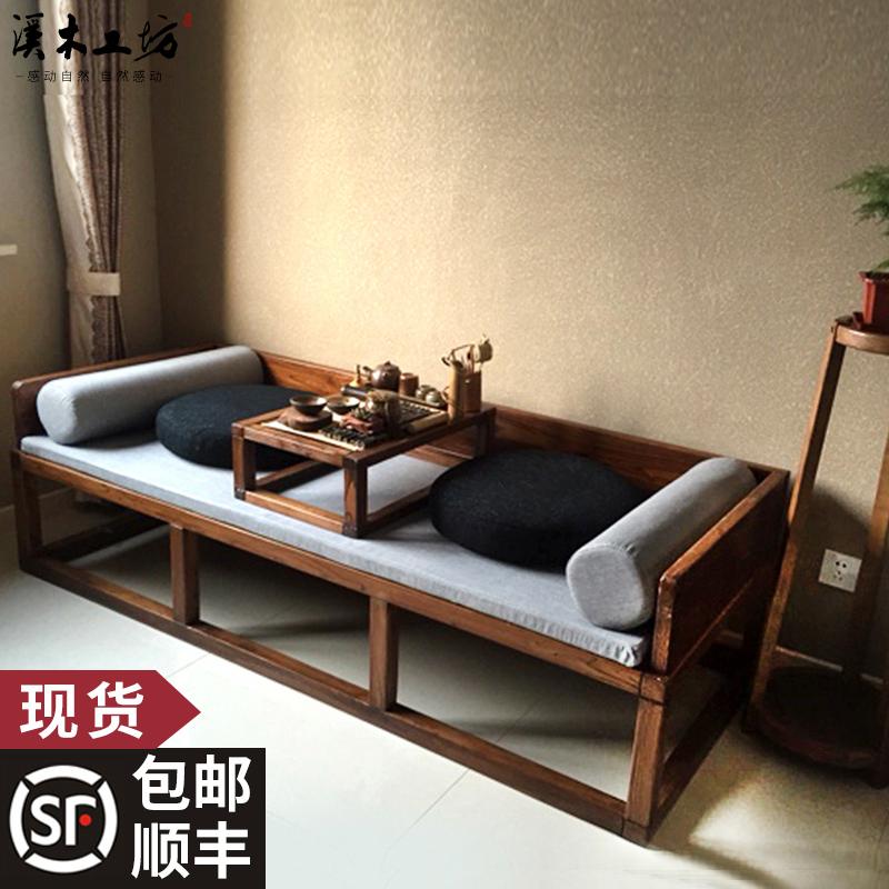 Старый вяз ocean кровать три образца кровать диван Дао-шип китайский стиль диван - кровать простой алтарь смысл новый китайский стиль ocean кровать дерево