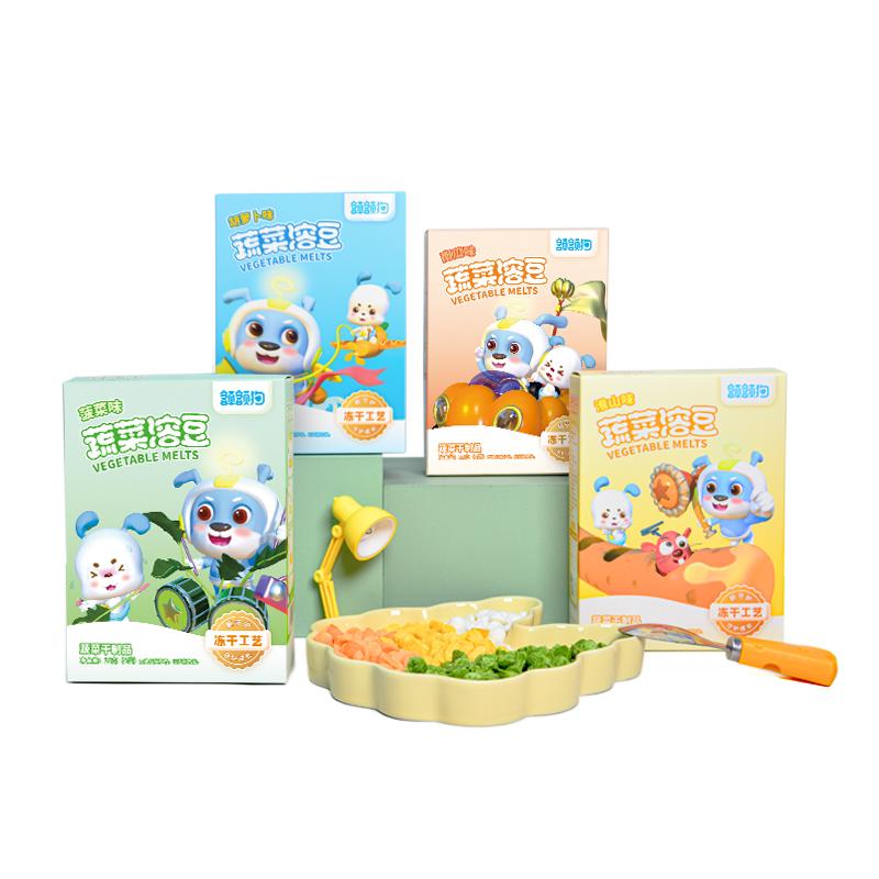额额狗宝宝零食果蔬儿童辅食益生菌酸奶水果蔬菜小溶豆豆入口即化