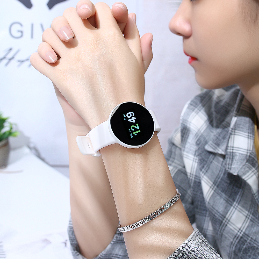 UPGRADED VERSION OF THE COLOR SCREEN WHITE [NORMAL VERSION OF ALL FEATURES + HEART RATE BLOOD PRESSURE BLOOD OXYGEN MONITORING + TIMING]