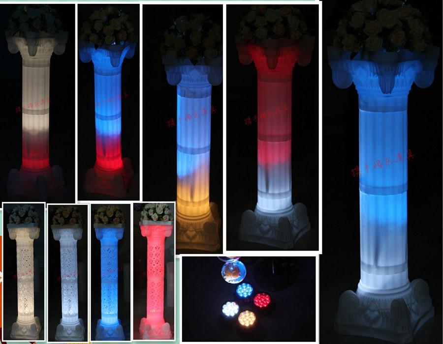 Креативный подарок, Сувенир Новые зарядки 12 огни римских колонн, свадьба дороги дороги знак эффект света светодиодные лампы, белый, желтый, красный и синий