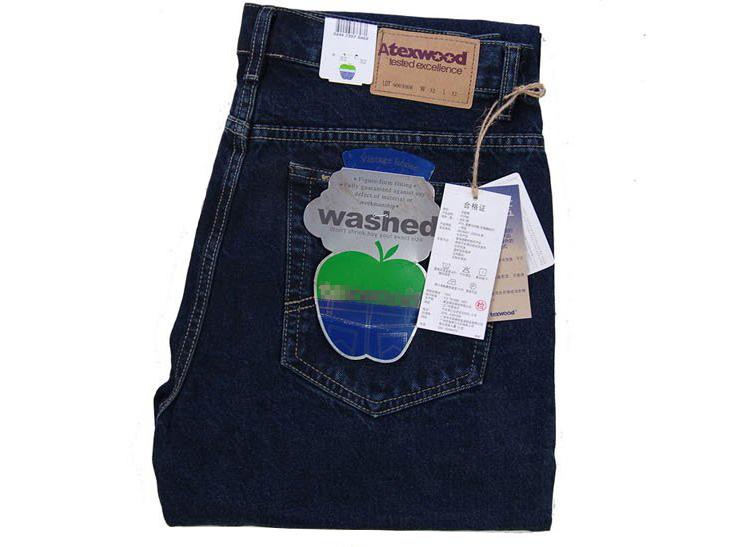 Mùa xuân đích thực Apple nam jeans nam phần mỏng lỏng thẳng eo cao sâu cotton trung niên cha quần
