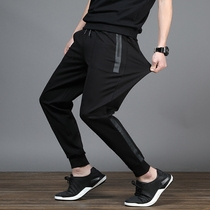 Add Fat day tie pants elastic waist high elasticity leisure trousers Summer