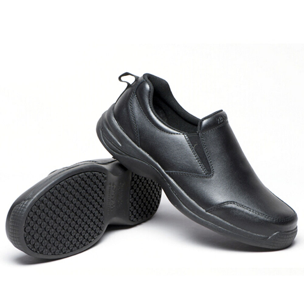 Menu0027s Leather Chefs Shoes Kitchen Anti Slip Shoes Safety Shoes Oil Water  Proof
