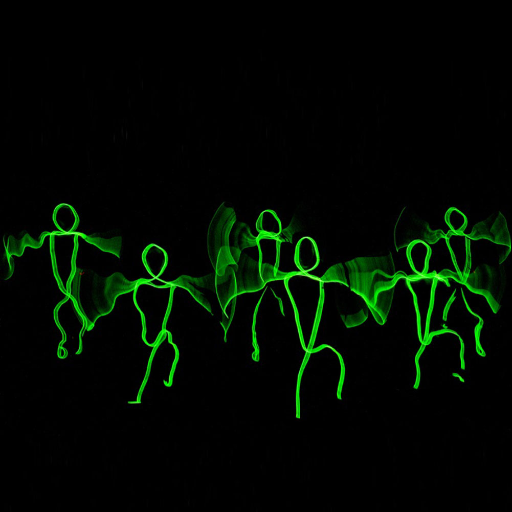 LED Neon EL Wire Tube Costumes Dance DJ Nightclub Party Stage ...