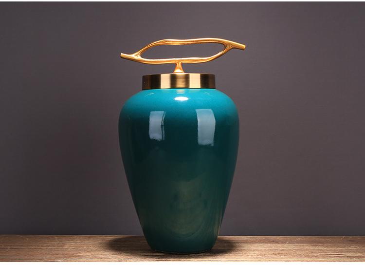 〖洋碼頭〗新中式創意陶瓷儲物罐擺件簡約樣板房酒店家居電視櫃軟裝飾品擺設 ysh634