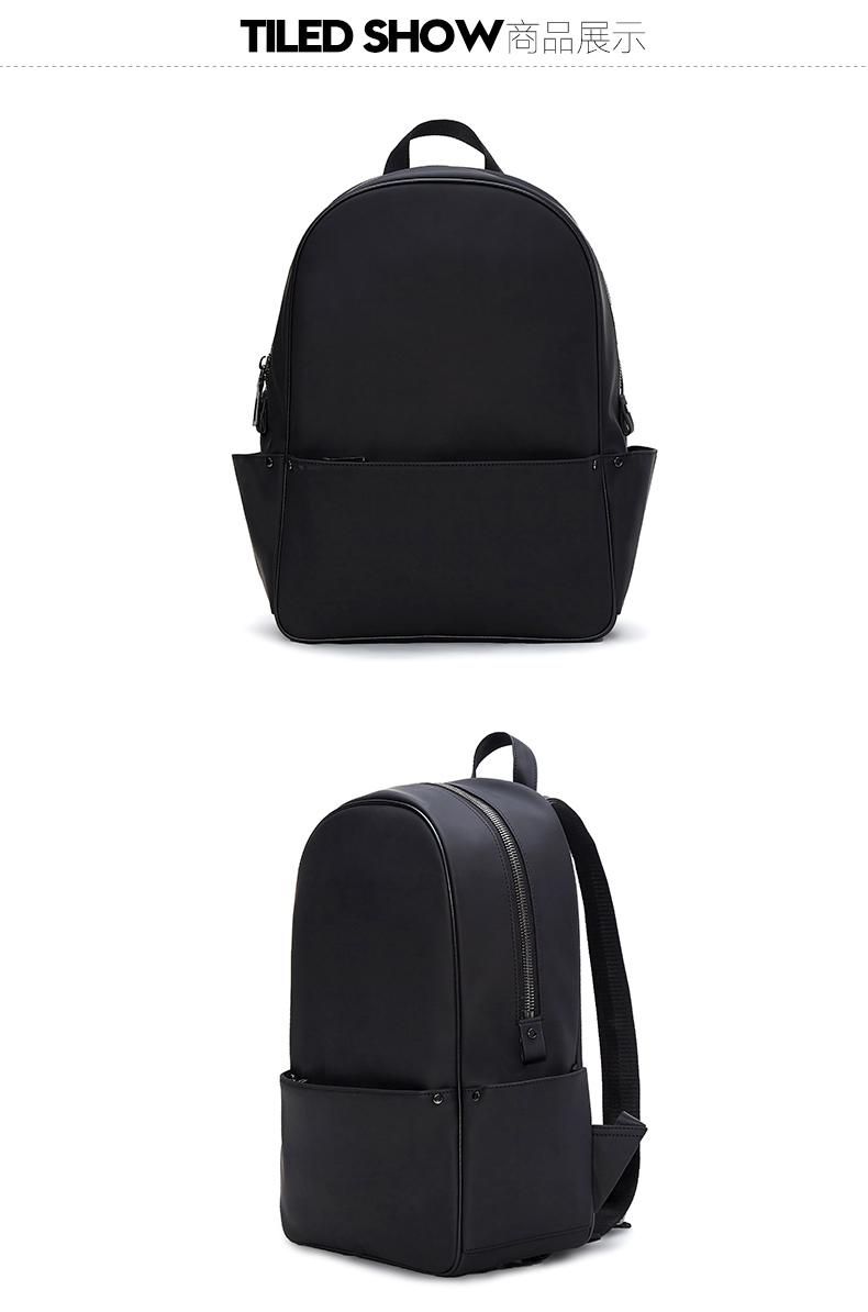 GXG男装时尚都市黑色双肩包