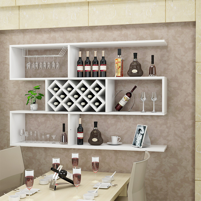 Wine Cabinet Simple Wall Cabinet Wine Rack Wall Mounted Wine Cabinet Restaurant Wall Decoration Hanging Cabinet Rack Can Be Customized