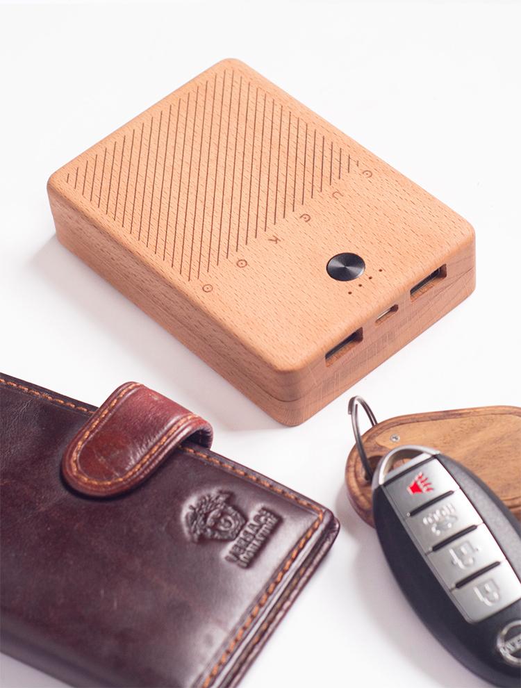 布谷木社创意日式复古充电宝10000毫安定制l商务单位礼品送男生女生礼物