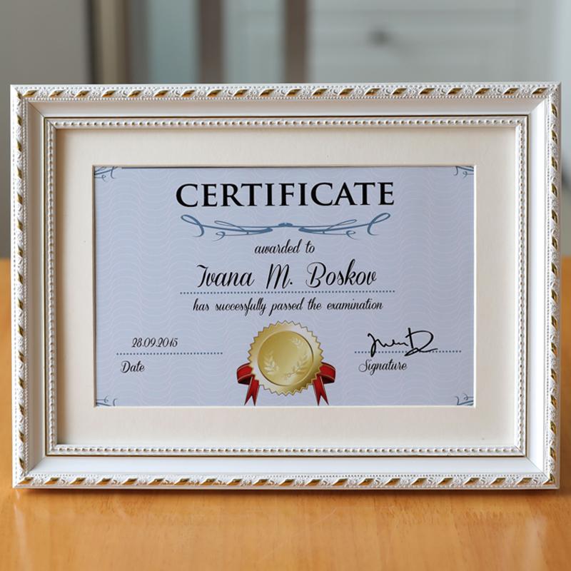 毕业证营业执照框8开画框挂墙A3A4证书框创意实木相框奖状框摆台
