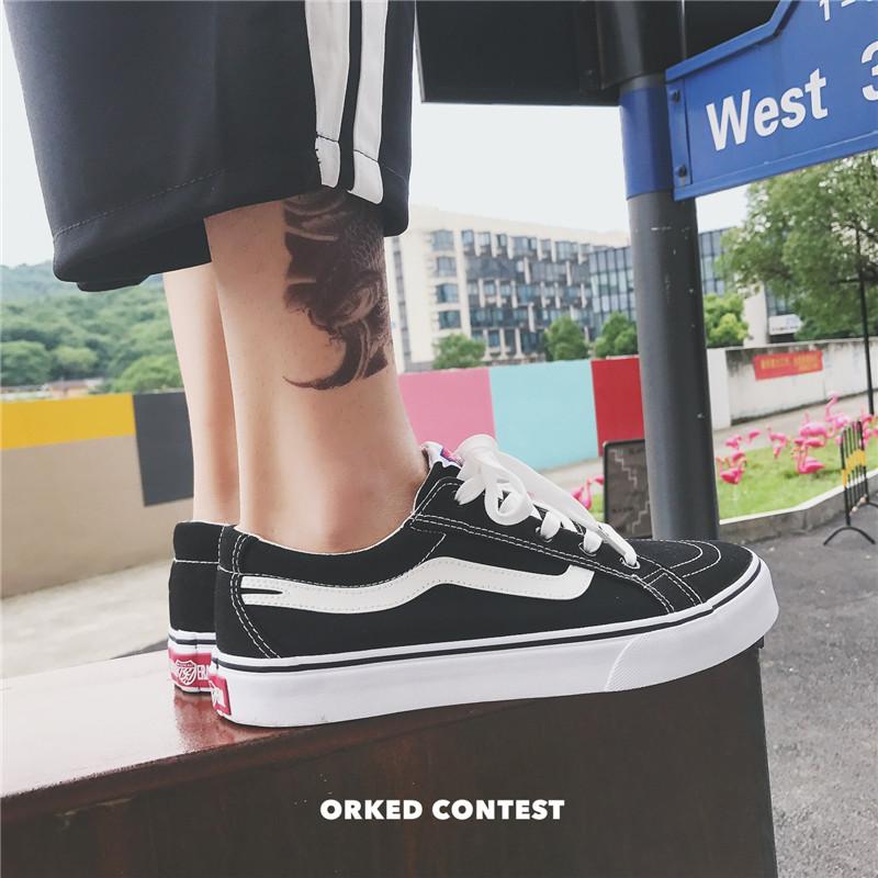 夏季男士情侣鞋百搭韩版潮低帮鞋帆布休闲鞋子学生透气英伦板鞋
