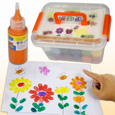 Children's finger paints non-toxic washable baby paints finger print graffiti watercolor painting tool set