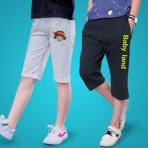 18年新款男童***童夏季七分裤
