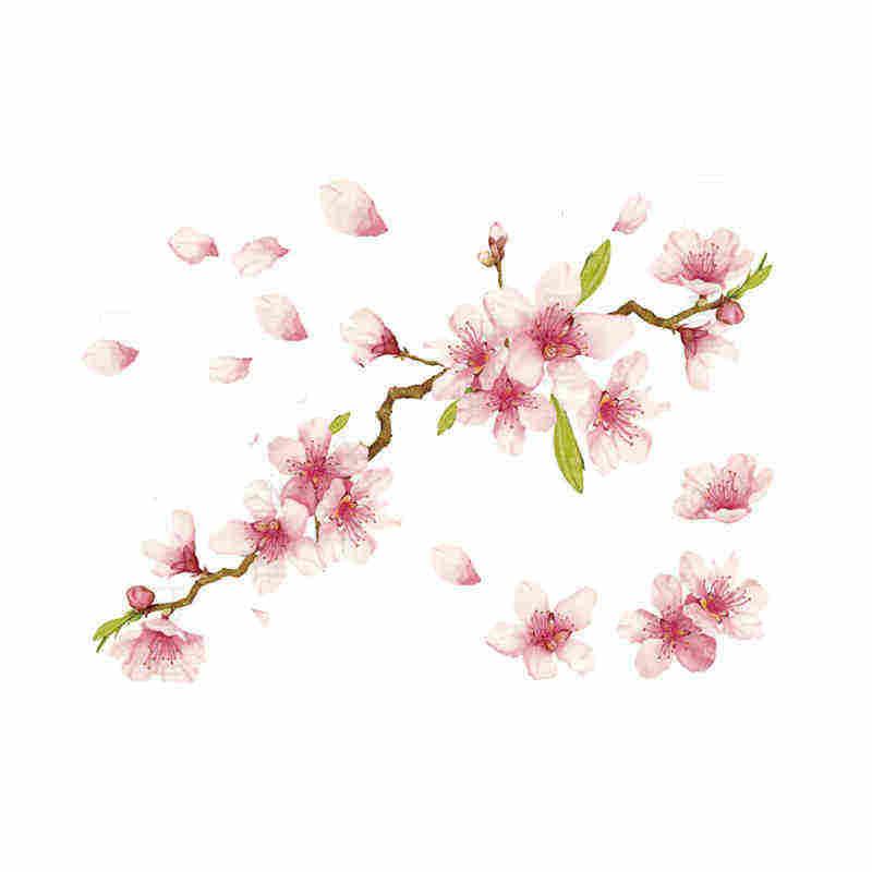 27c181f4fd9de ... TAHUA her painting geisha cherry tattoo applique arm waterproof female  lasting sexy peach flowers antique fresh