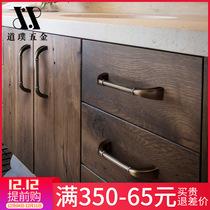 American handle cabinet door modern simple drawer cabinet wardrobe hardware European style
