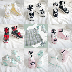 April Nine Songs Yingxiong Lianmeng original Lolita high-top student sneakers Yuanyang loniang running shoes