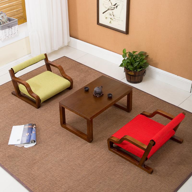Твердая древесина и мебель для стульев для отдыха Плавающий чайный стол и стул окно Японская кровать верх Ленивый татами