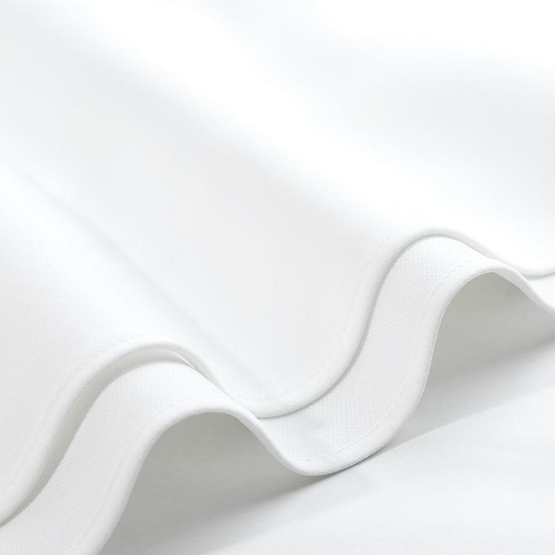 DPLAY2018 mùa xuân và mùa hè mới Châu Âu và Mỹ trắng semi-vai vòng cổ cao eo slim dress tính khí váy trắng