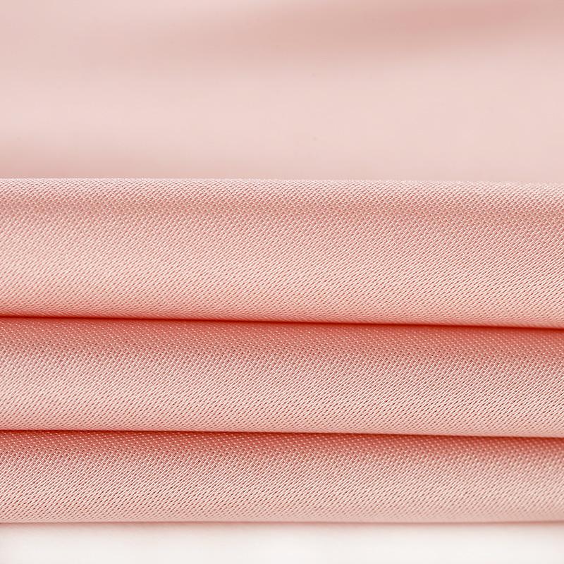 DPLAY mùa xuân mới Châu Âu và Mỹ ánh sáng hồng lá sen bất đối xứng hem dài tay đầm tuổi-váy giảm