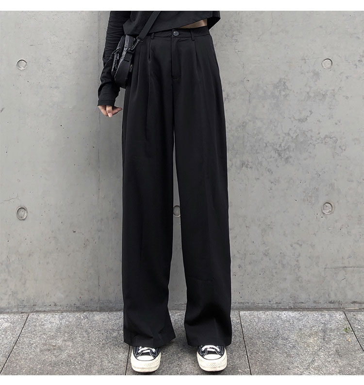 O1CN01YctCdi1FRFqaPkkXw !!470100483 - S-L 2 colors Casual Straight Suit Pants Women High Waist Pant Office Lady wide leg Long Trousers womens (X580)