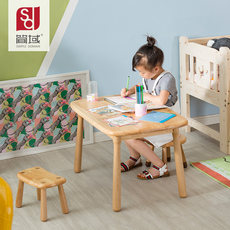 Jane domain children's study table and chair set kindergarten game table primary school home desk baby solid wood writing desk