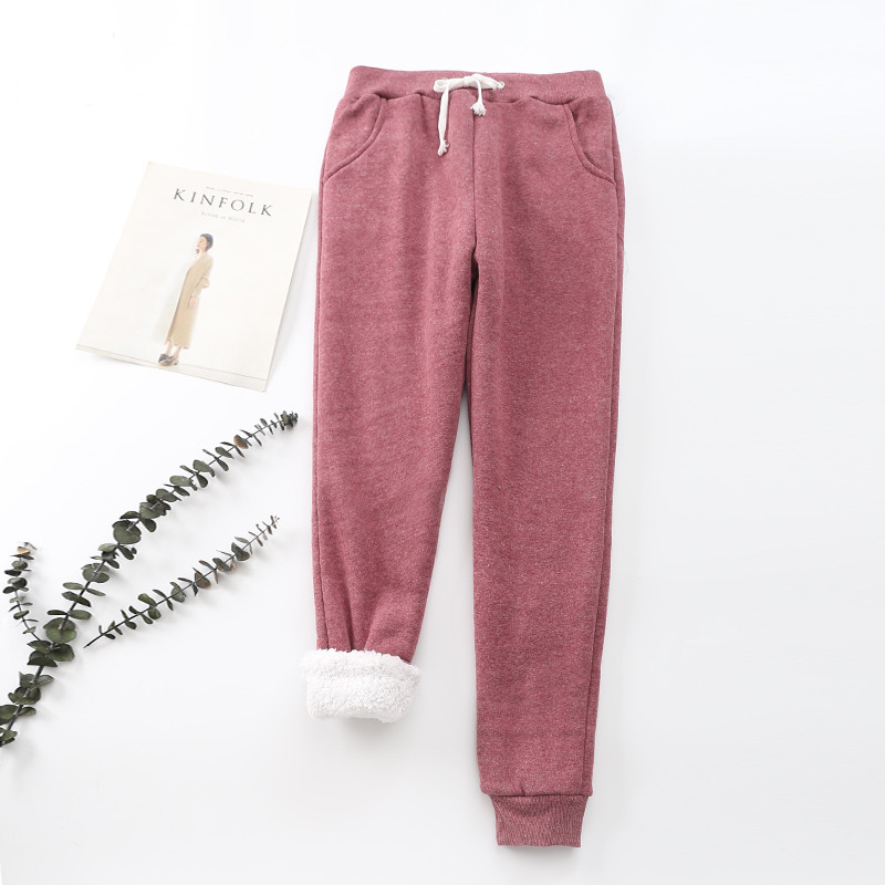 Winter Cashmere Harem Warm Pants Women 2020 Causal trousers Women Warm Thick Lambskin Cashmere Pants Women Loose Pant 24