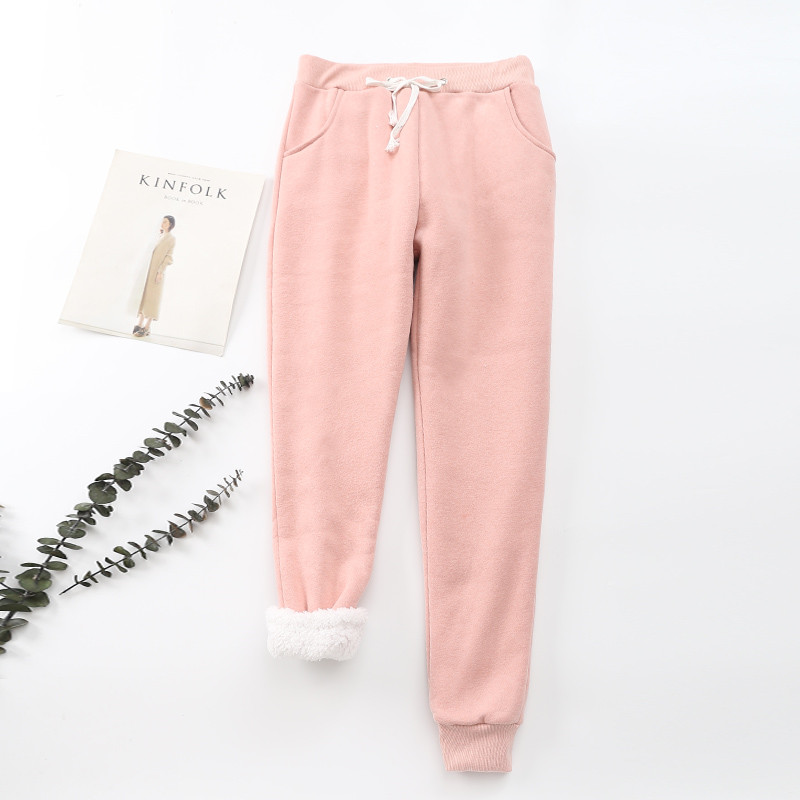 Winter Cashmere Harem Warm Pants Women 2020 Causal trousers Women Warm Thick Lambskin Cashmere Pants Women Loose Pant 23