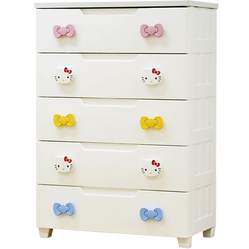 Alice Drawer Storage Cabinet HelloKitty Alice Plastic Childrenu0027s Storage  IRIS Baby Wardrobe