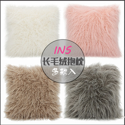 INS Fengbei European pillow pad long plush pillow pillow living room sofa leaning on the bed pillow sleeve not included