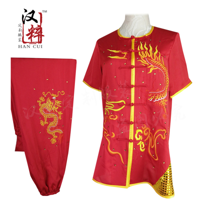 Chinese Martial Arts Clothes Kungfu Clothe  Tai Chi Wushu Competition Performance Colorful Clothing Silkworm Pure Silk Tailor-made Embroidery