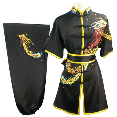 Chinese Martial Arts Clothes Kungfu Clothe Changquan Nanquan Wushu Competition Performs Colorful Clothes, Adult Men and Children Embroidery Dragon